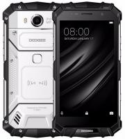 Смартфон Doogee Doogee S60 Moonlight Silver, 5.2'' 1920x1080, 2.6GHz, 8 Core, 6GB RAM, 64GB, up to 128GB flash, 21Mpix/8Mpix, 2 Sim, 2G, 3G, LTE, BT, Wi-Fi, NFC, GPS, Micro-USB, 55 80mAh, Android 7.0, 164x81x15.5, IP68, технология беcпроводной з