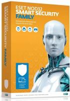 Eset NOD32 Smart Security Family - лицензия прод на 20 мес или новая на 3 устройства 1 год Box