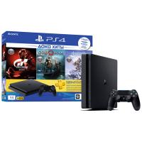 Игровая приставка Sony PlayStation 4 1 TB Slim (CUH-2208B) HZD GTS GOW PSN 3мес