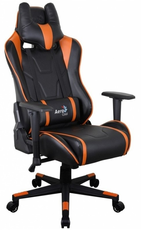 Игровое кресло Aerocool AC220 AIR-BO Black/Orange