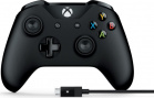 Геймпад Microsoft Xbox Controller Black + Cable (4N6-00002)